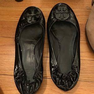 Patent leather, black, Tory Burch 'Reva' flats